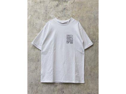 ARTGI unisex bílé tričko PRETTY elastické