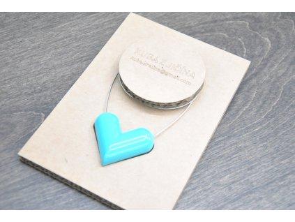 Jakub Křelina - HEART / BLUE - náhrdelník se srdcem z bombiček