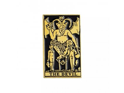 Pin / Brož odznáček The Devil - černo-zlatý