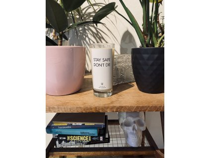 Things by E. - IRONIC CANDLES - STAY SAFE DON´T DIE / levandule