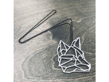 Náhrdelník Things by E. - hlava lišky šedá