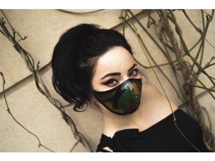 KirstenVaams latexová rouška / maska Camouflage - maskáč