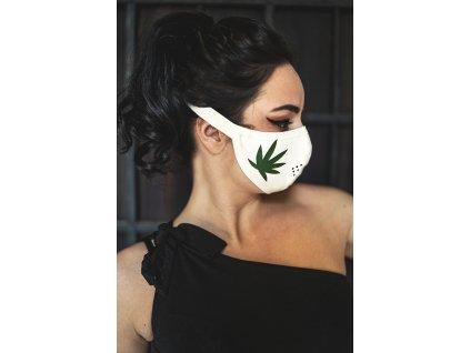 KirstenVaams latexová rouška / maska 420 White - bílá