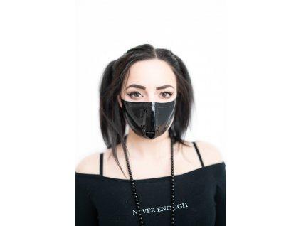KirstenVaams latexová rouška / maska Black - černá