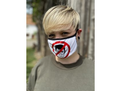 NTRXZ dámská maska na obličej / rouška bavlněná bílá - ANTIBABIŠ
