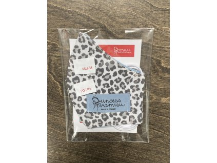 PRINCESS TIRAMISU unisex rouška / maska - šedobílý leopard