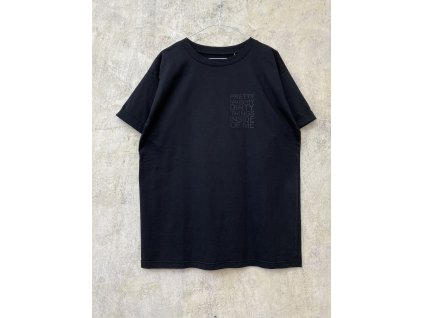 ARTGI unisex černé maxitričko PRETTY 100% bavlna