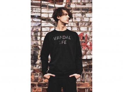 4472 8 vandal life crewneck black unisex