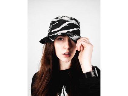 Princess Tiramisu bucket hat - oboustranný klobouk černý / žíhaný