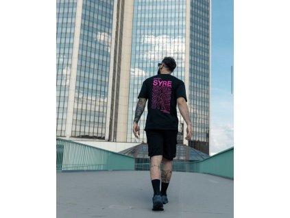 TUM MACHINES pánské černé triko SYRE T-shirt
