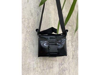 tny.3 kabelka / ledvinka Waistbag Small - kožená černá pololesklá