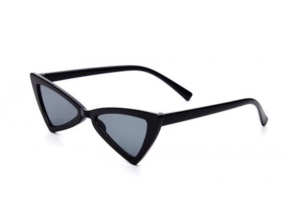 Dětské cat eye sluneční brýle - trojúhelníkové / černé