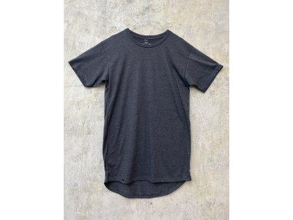NTRXZ pánské tričko šedé mesh - prodloužený střih / bez potisku