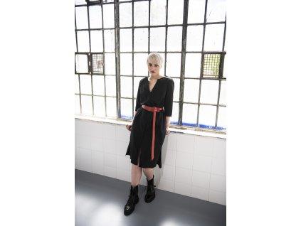 KRAPA černé košilové šaty - popelín
