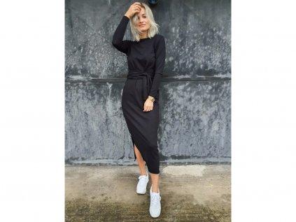 M.ASCH Be Original černé šaty wrap dress black