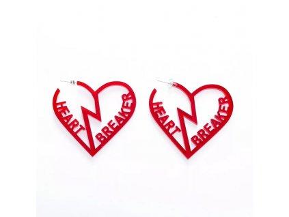 Náušnice RED HEARTH BREAKER - červené