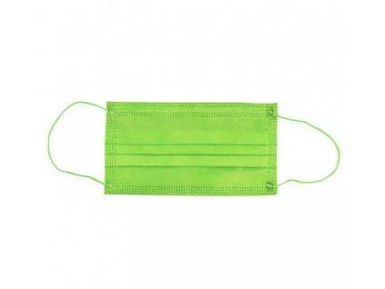 Jednorázová SYTĚ ZELENÁ rouška / maska / ústenka - GREEN MASK