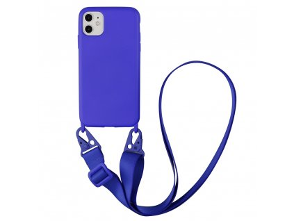 IPHONE Crossbody kryt / závěs na telefon s popruhem - tmavě fialová