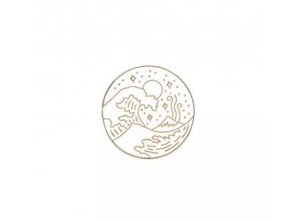 Pin / Brož Odznáček - moonland gold