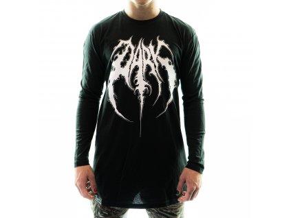 DARK / BLADEXLINES / NTRXZ Colab Collection - unisex černé triko s dlouhým rukávem