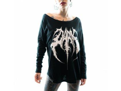 DARK / BLADEXLINES / NTRXZ Colab Collection - dámské černé triko s dlouhým rukávem