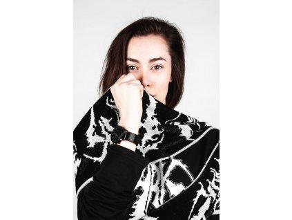 DARK / BLADEXLINES / NTRXZ Colab Collection - černobílá šála