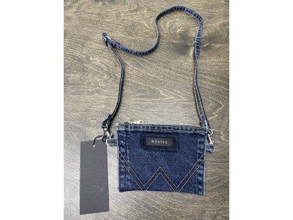 REVIVE CLOTHES upcyklovaná jeansová taštička / peněženka na šňůře