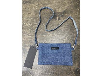 REVIVE CLOTHES upcyklovaná jeansová taštička / peněženka na šňůře II.