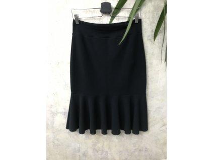 ARTGI Sukně VO, černá bavlna + elastan, M / 24