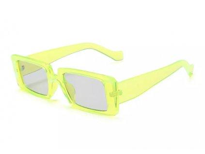 Sluneční brýle Rocka Shades Candy hranaté / neon yellow
