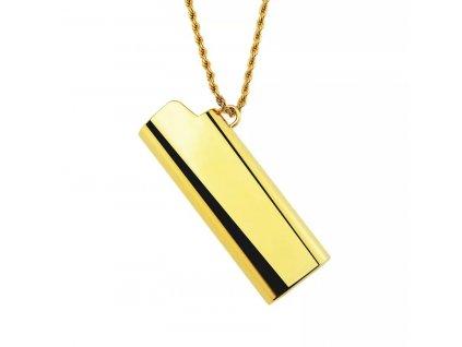 Náhrdelník / obal na zapalovač - gold