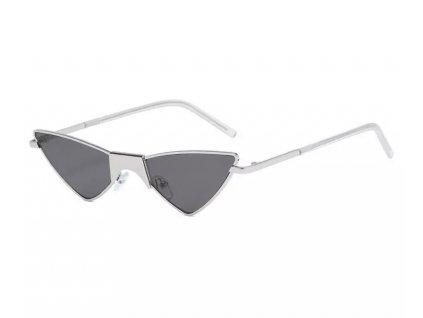 Sluneční brýle Rocka Shades  TRIANGLE kovové stříbrné