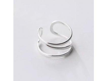 SMILEY stříbrný prsten LINES