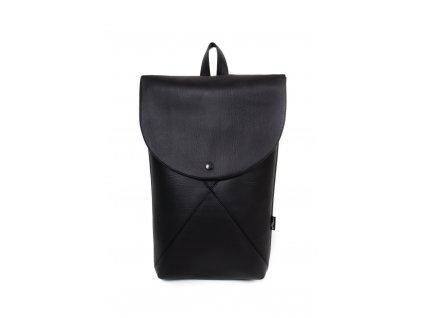 LIUC Batoh DREIECK schwartz koženka - černý batoh