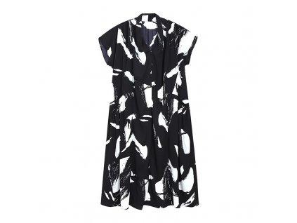 Šaty bíločerné s krátkým rukávem B&W