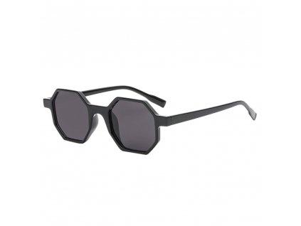 Sluneční brýle Rocka Shades hranaté obdelníkové - černé