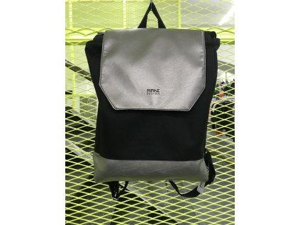 MAKE Design Batoh černý se stříbrnou vrchní a spodní částí
