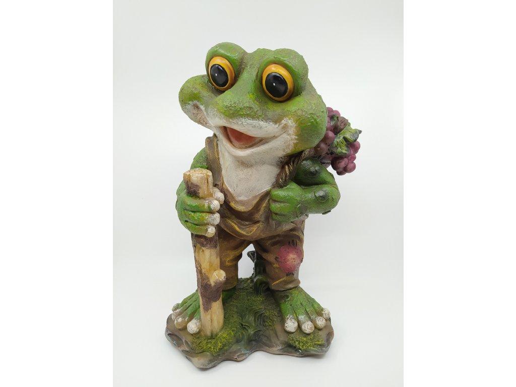 Zahradní figurka - žabák s hroznem