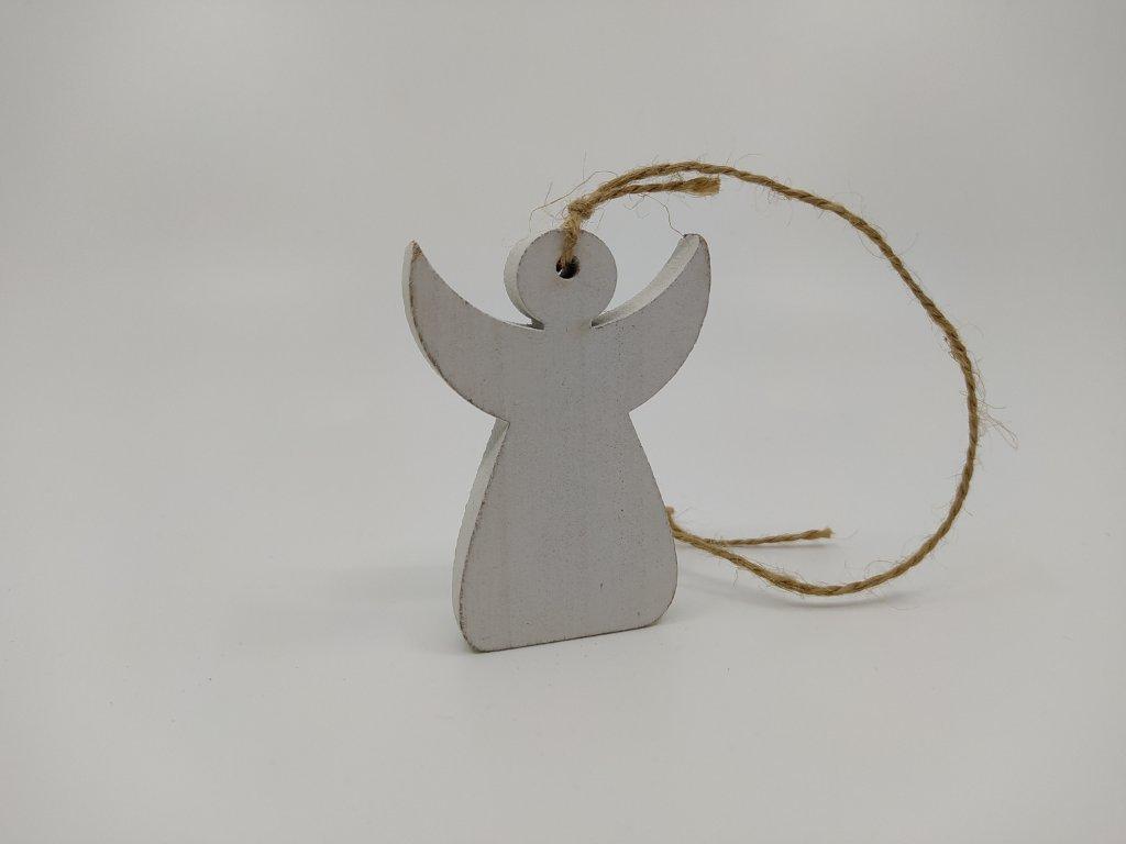anděl dřevo mini