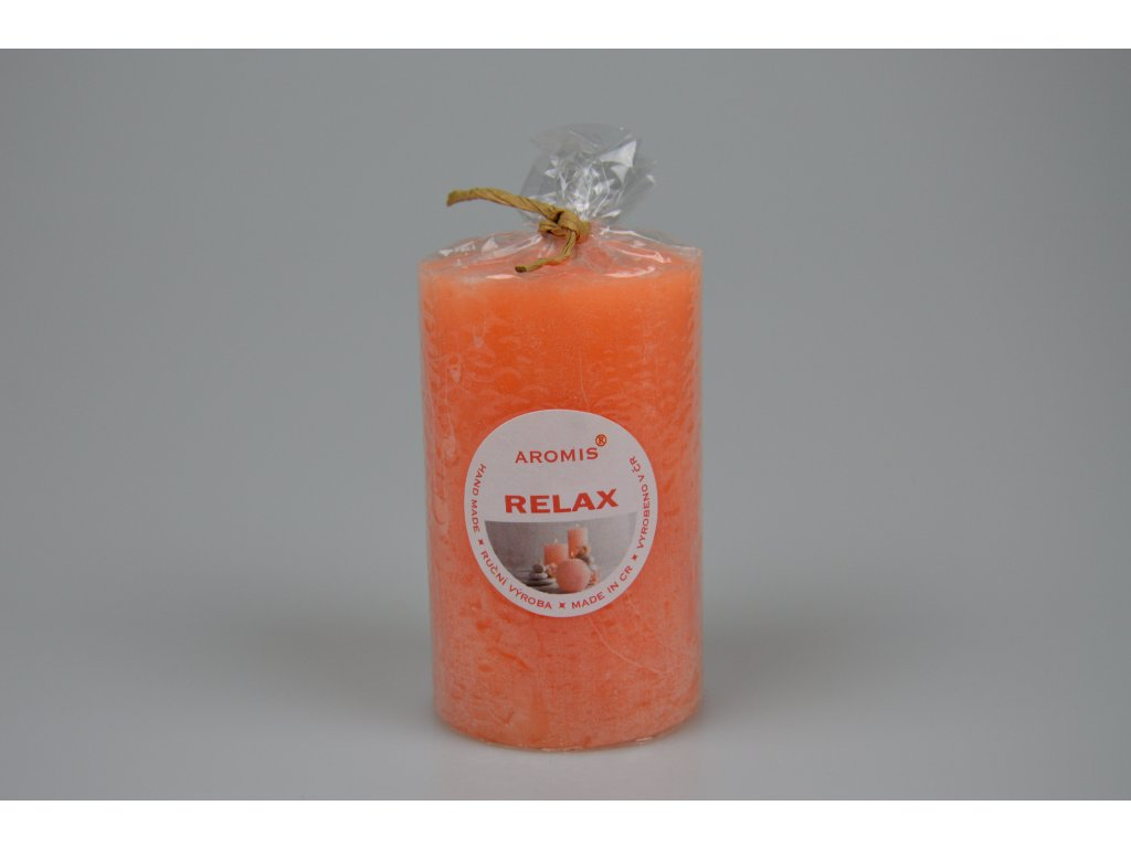 Svíčka Aromis válec oranžová - Relax