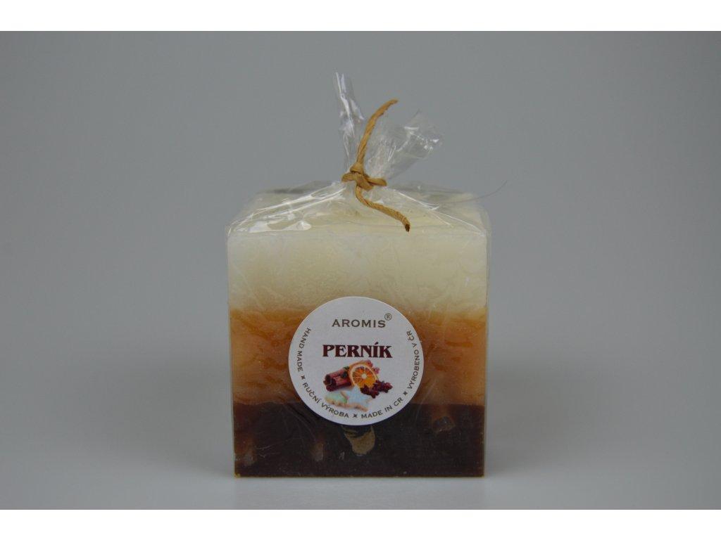 Svíčka Aromis kostka hnědá - Perník
