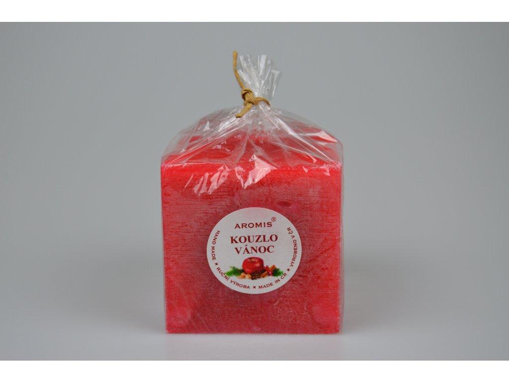 Svíčka Aromis kostka červená - Kouzlo vánoc