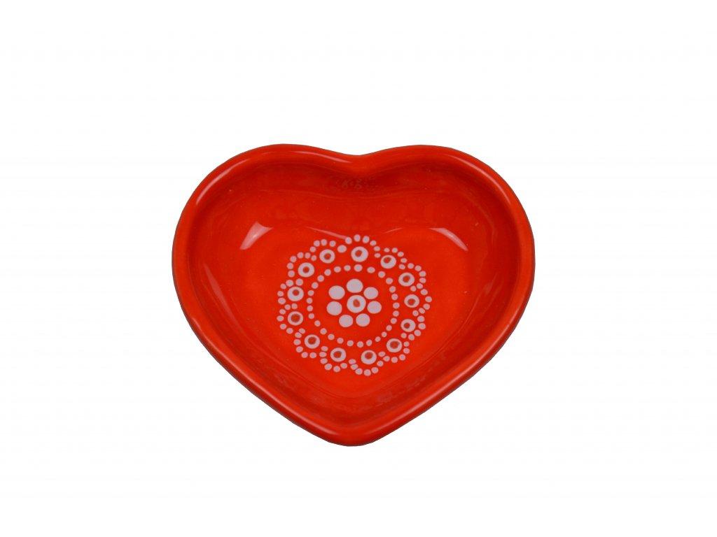 Srdíčko malé - Červené s krajkou