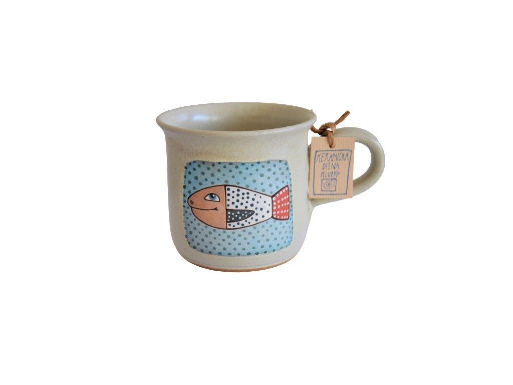 Hrnek keramický káva - Rybka