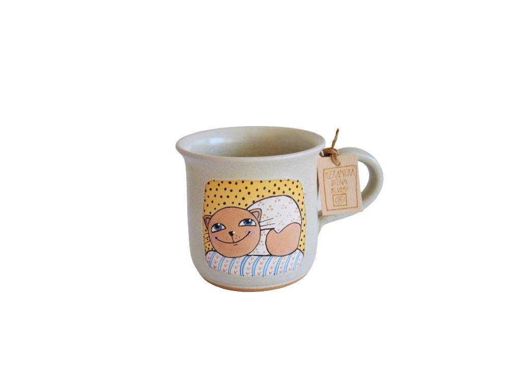 Hrnek keramický káva - Kočka