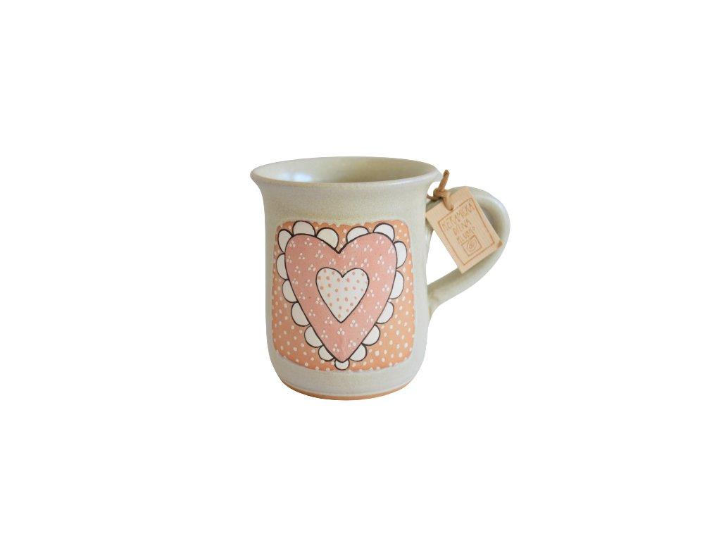 Hrnek keramický čaj - Srdce