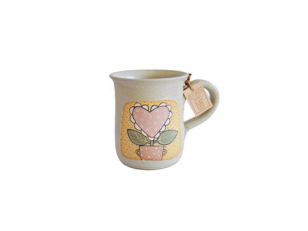 Hrnek keramický čaj - Kytka