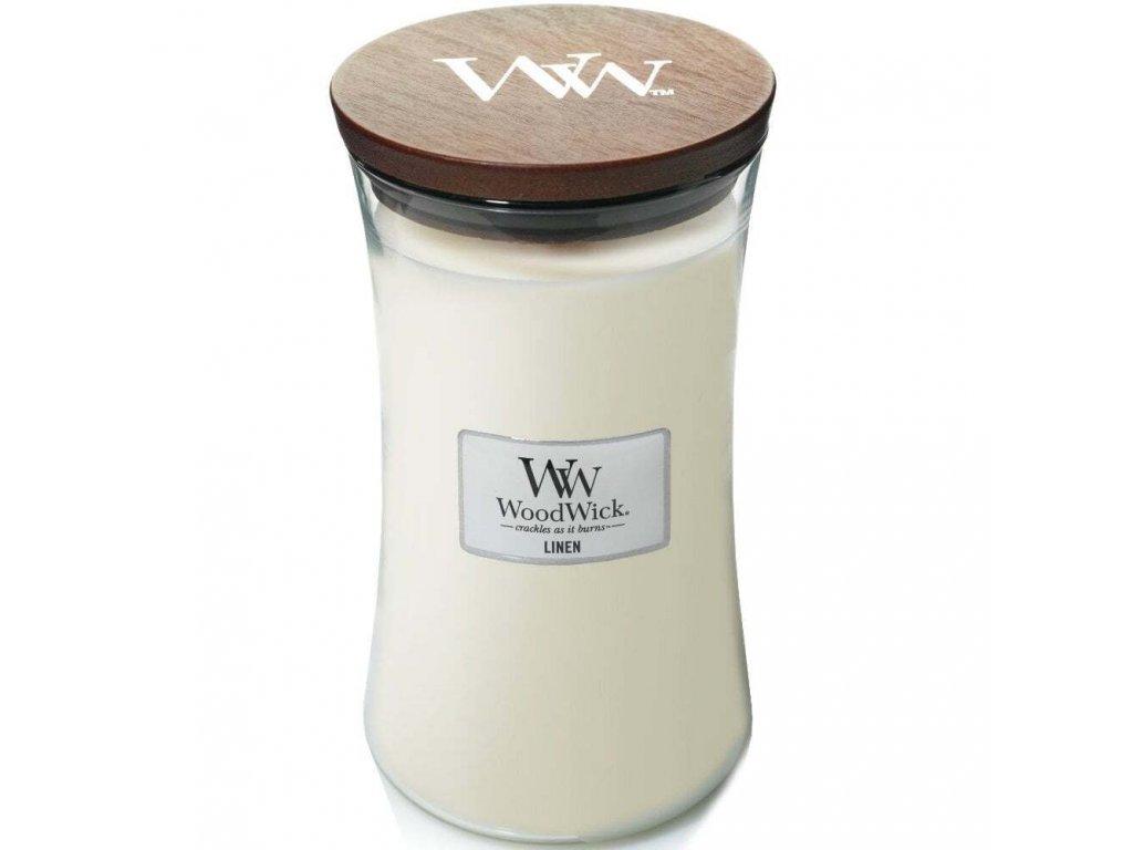 WoodWick Linen váza velká