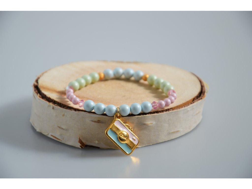 Náramek SWAROVSKI Crystal pearls - barevný