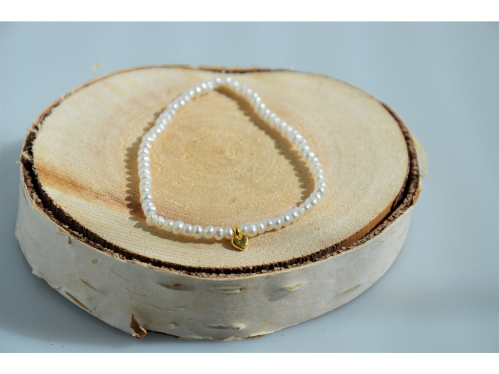 Náramek z říčních perel